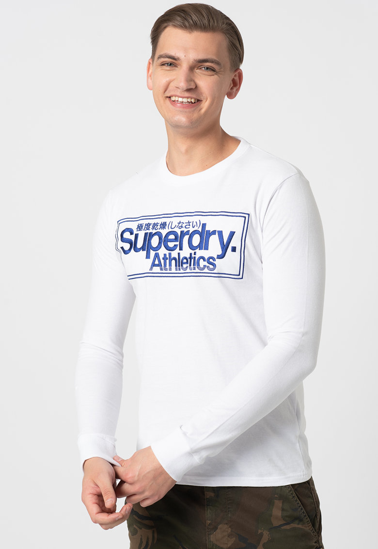 Bluza cu broderie logo supradimensionata imagine