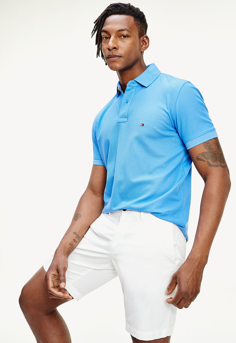 Tricou polo cu logo discret imagine