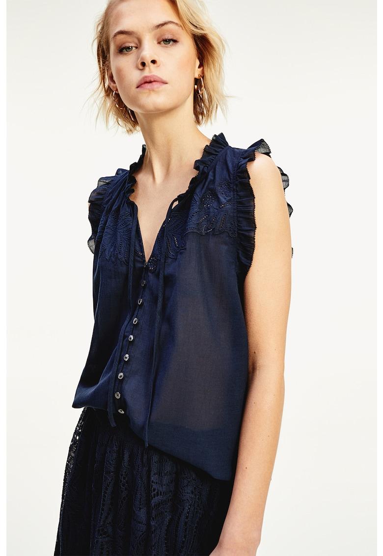 Bluza semi-transparenta cu volane imagine