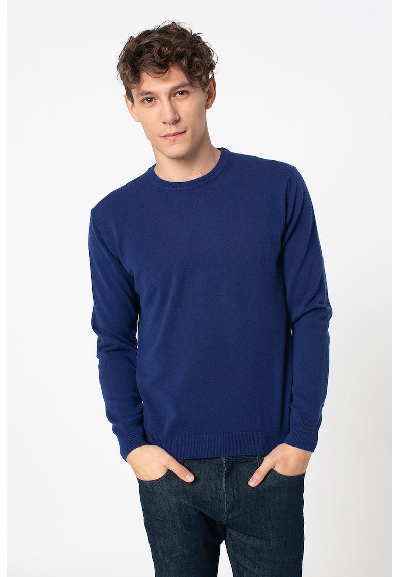 Pulover din casmir cu aspect de tricot fin