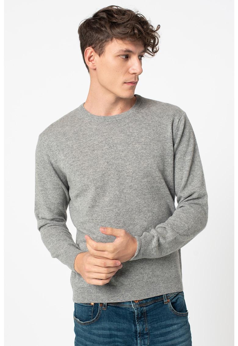 Pulover din casmir tricotat fin