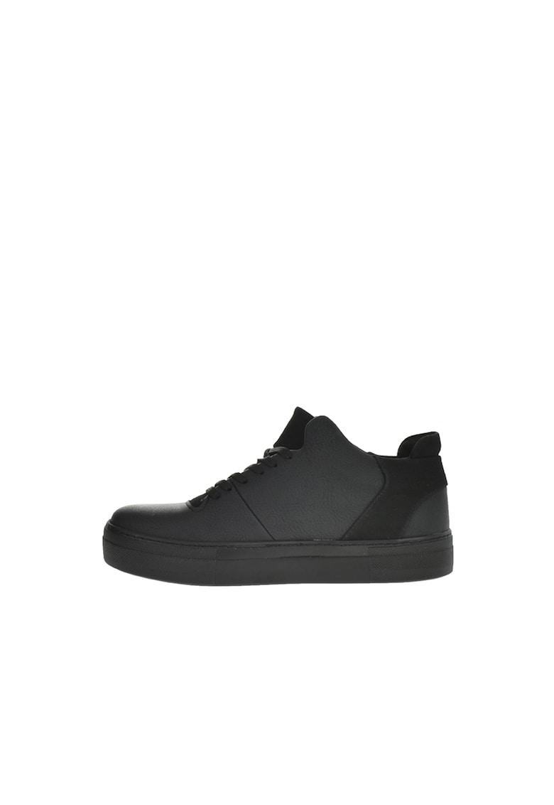 Pantofi sport de piele ecologica cu detaliu logo imagine