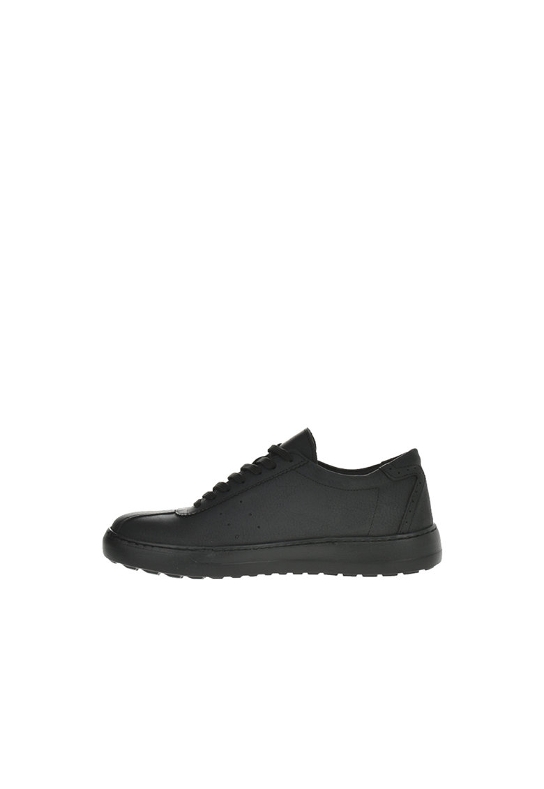 Pantofi sport de piele ecologica cu perforatii decorative