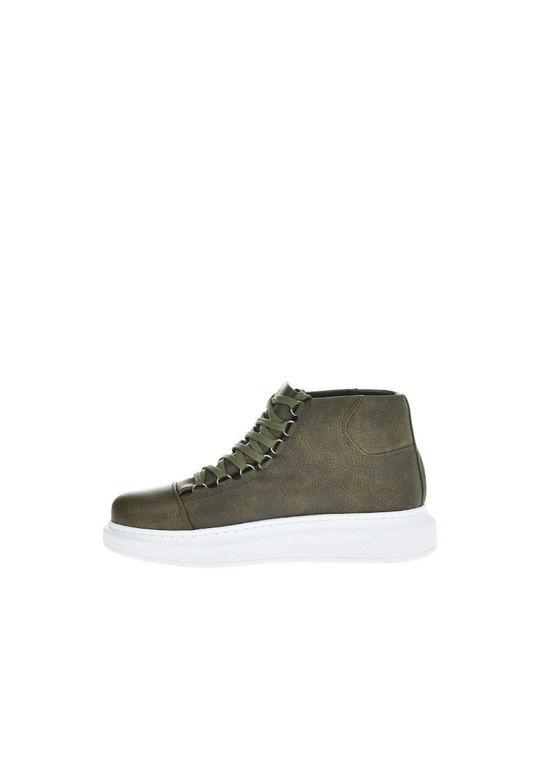 Pantofi sport mid-high de piele ecologica poza fashiondays