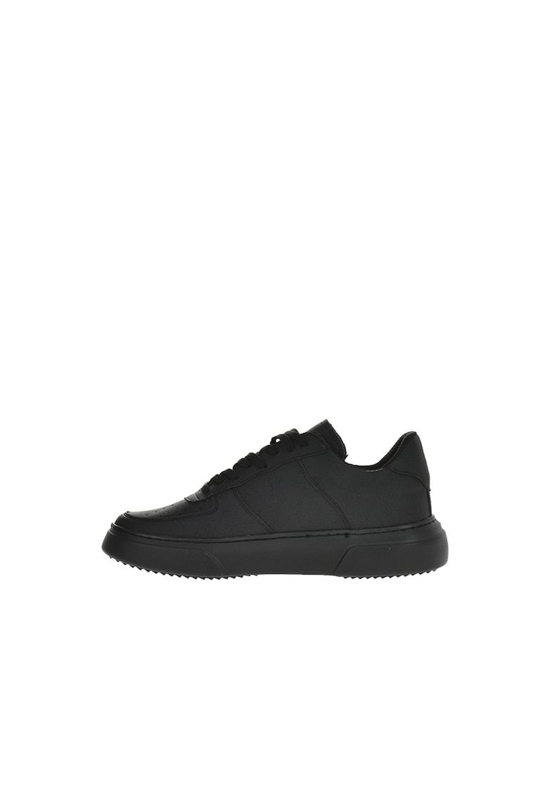 Pantofi sport de piele ecologica cu perforatii