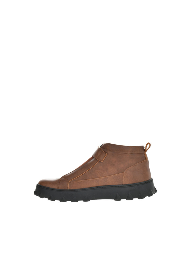 Pantofi sport mid-high de piele ecologica cu detalii texturate