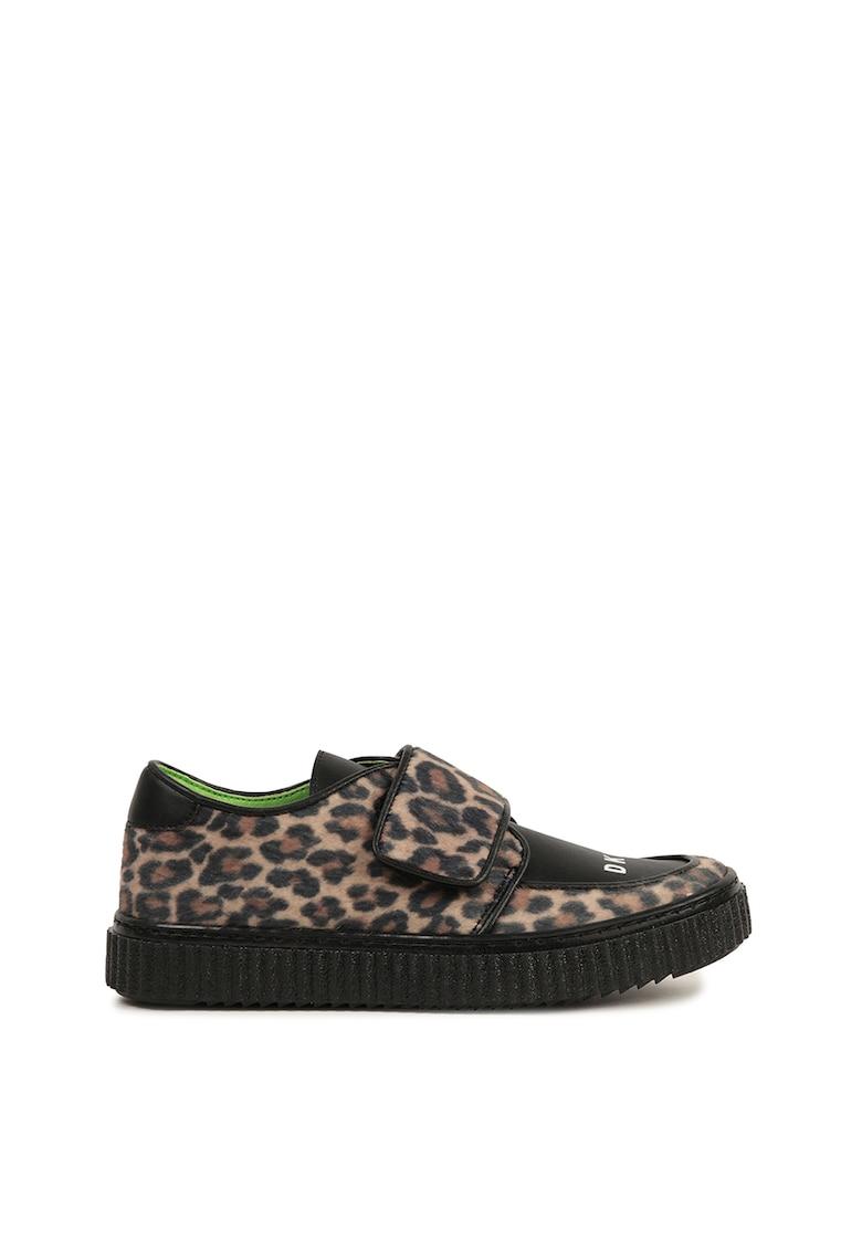 Pantofi sport cu animal print si velcro imagine promotie