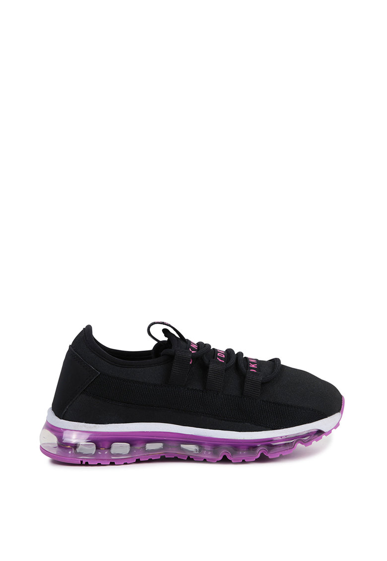 Pantofi sport din material textil cu talpa contrastanta imagine promotie