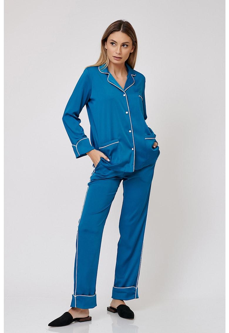 Nighters Pijama cu cusaturi contrastante