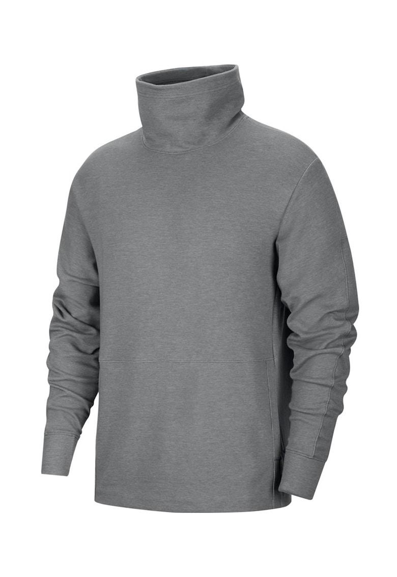 Bluza cu guler drapat si tehnologie Dri-Fit pentru fitness