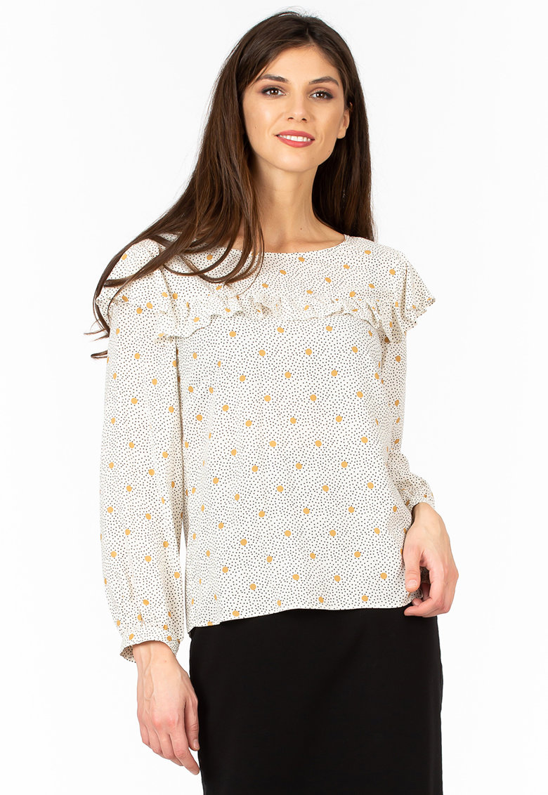 Bluza cu imprimeu si volane imagine