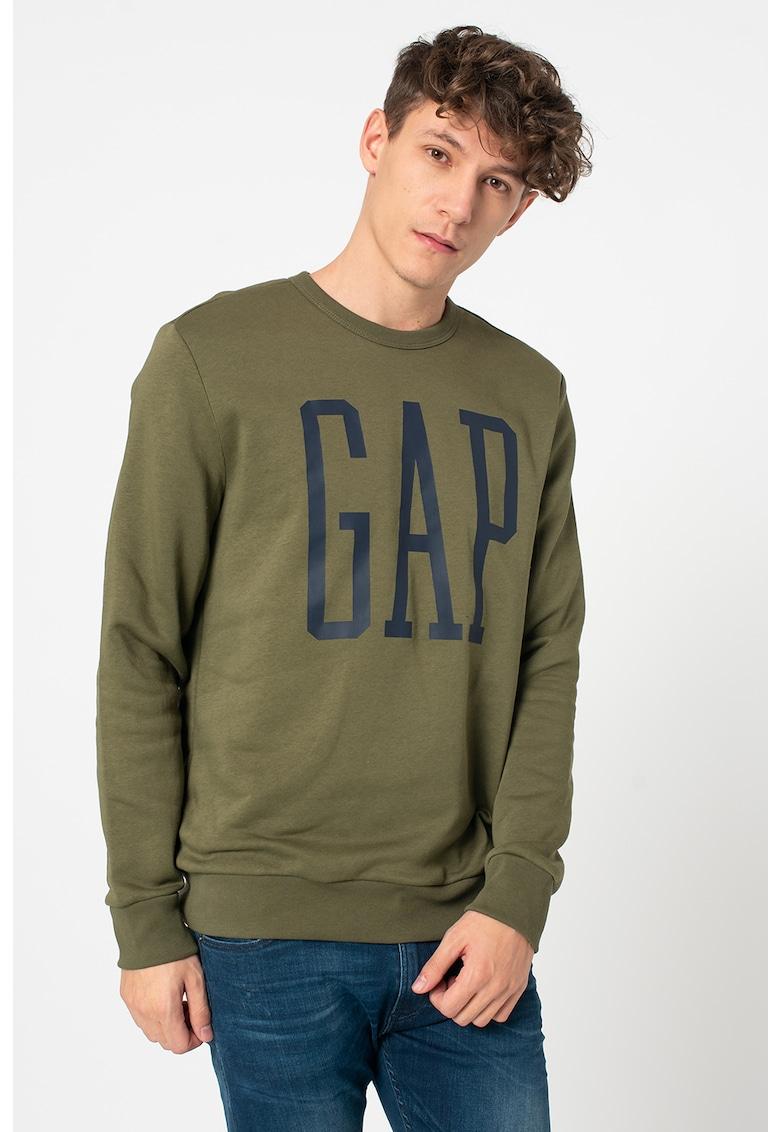 Bluza sport cu decolteu la baza gatului si logo supradimensionat imagine promotie