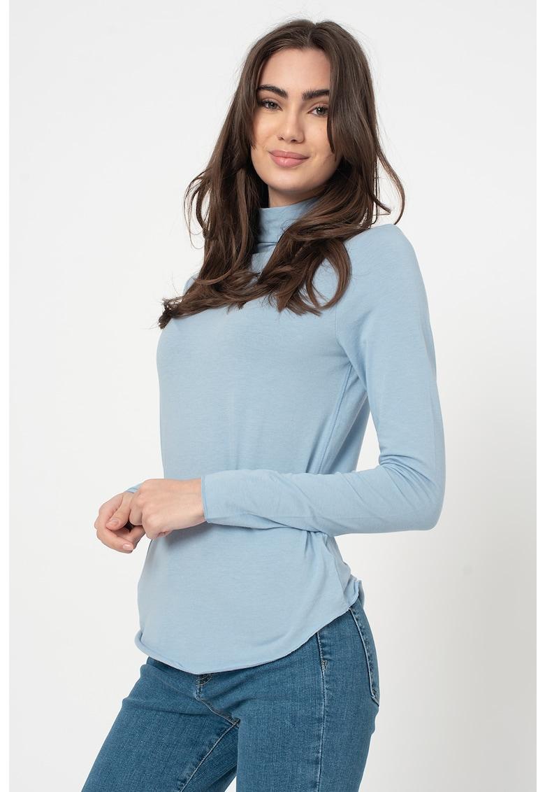 Bluza din amestec de modal - cu guler inalt imagine promotie