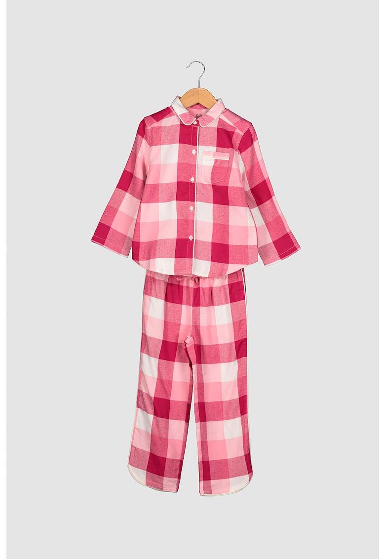 Pijama cu pantaloni lungi - in carouri imagine promotie