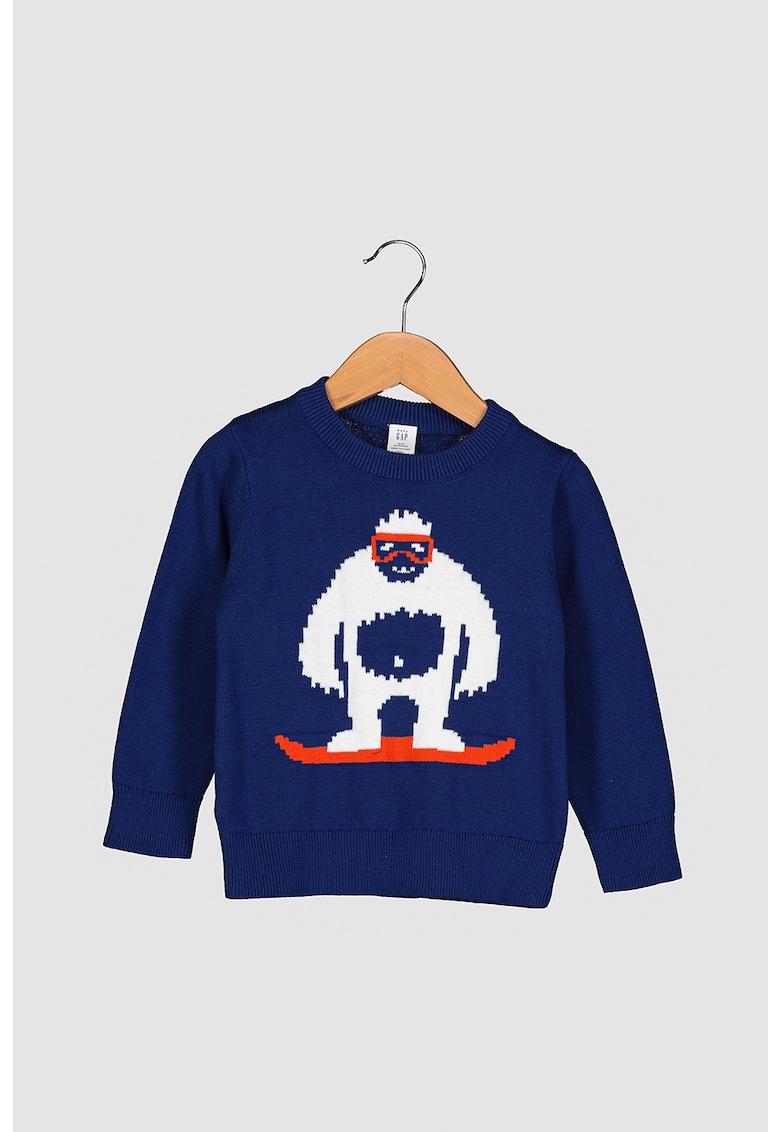 Pulover tricotat cu decolteu la baza gatului imagine promotie