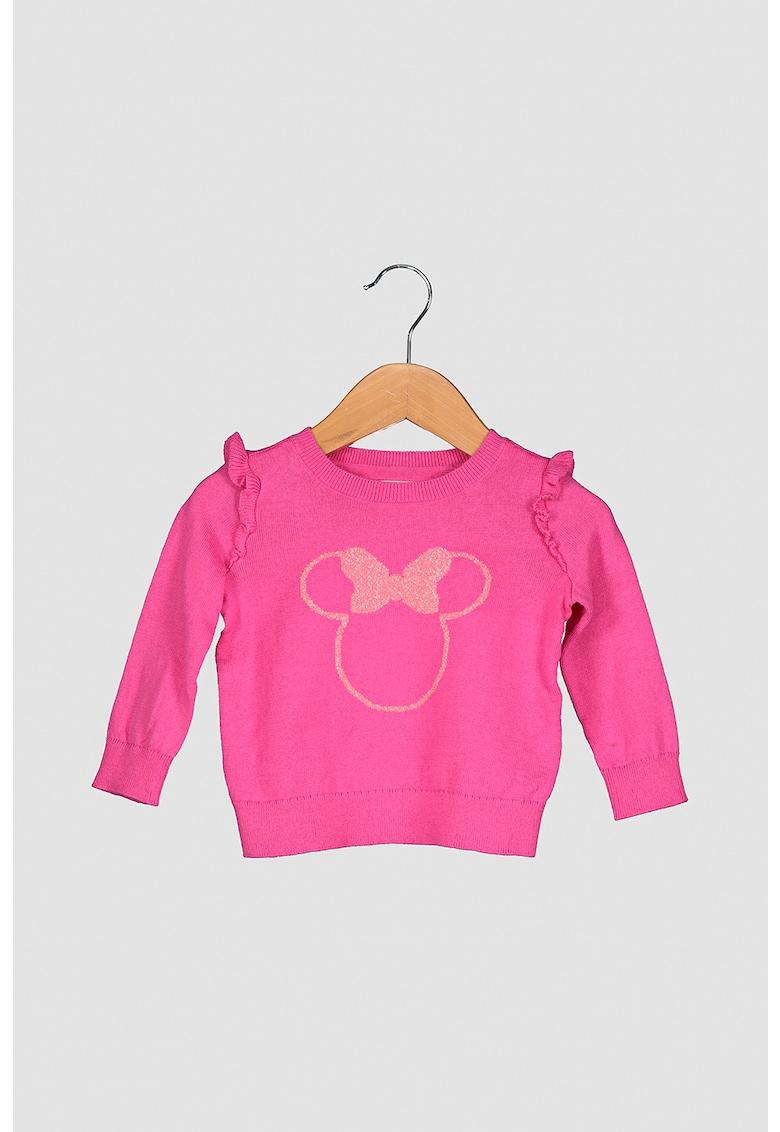 Pulover cu decolteu la baza gatului si imprimeu Minnie Mouse imagine promotie