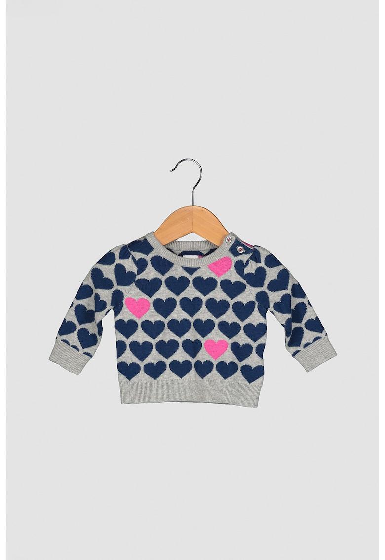 Pulover cu imprimeu cu inimi imagine promotie