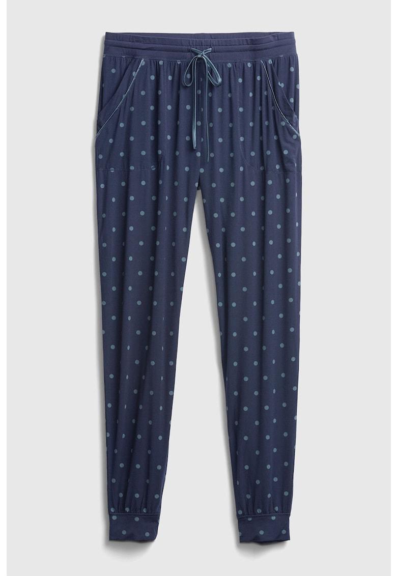 Pantaloni de pijama din amestec de modal cu imprimeu