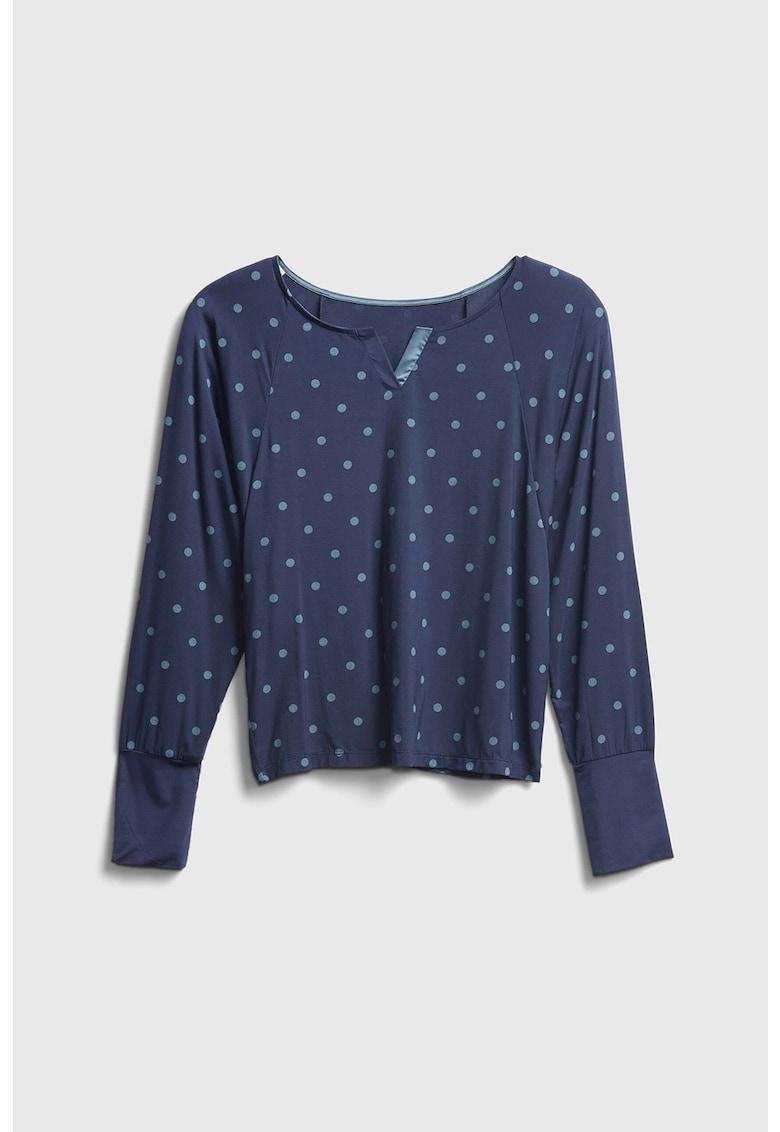 Bluza de pijama cu imprimeu cu buline