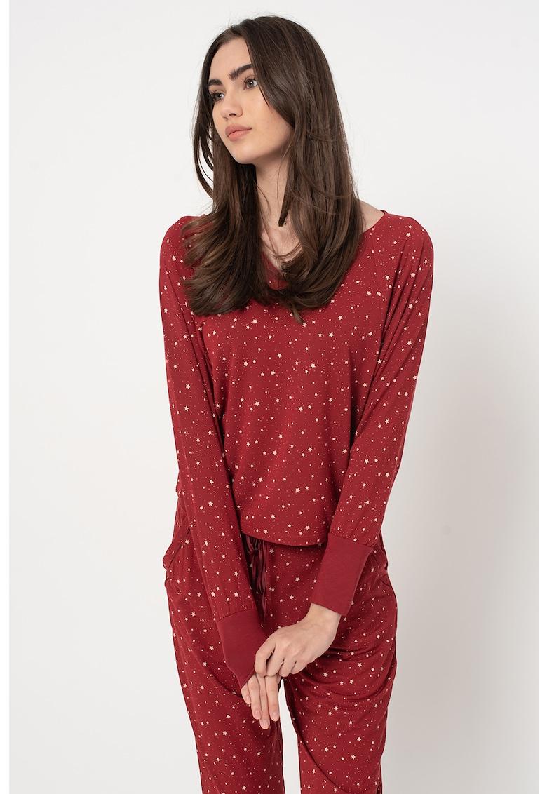 Bluza de pijama din amestec de modal - cu maneci raglan imagine promotie