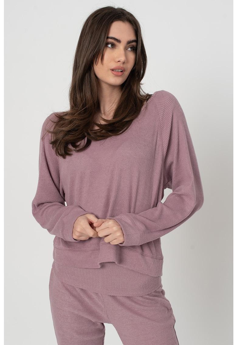 Bluza de pijama cu aspect striat imagine
