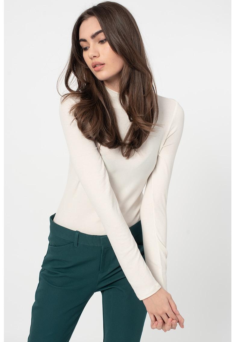 Bluza din amestec de modal - cu guler scurt imagine promotie