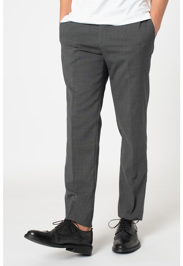 Pantaloni slim fit din amestec de lana poza fashiondays