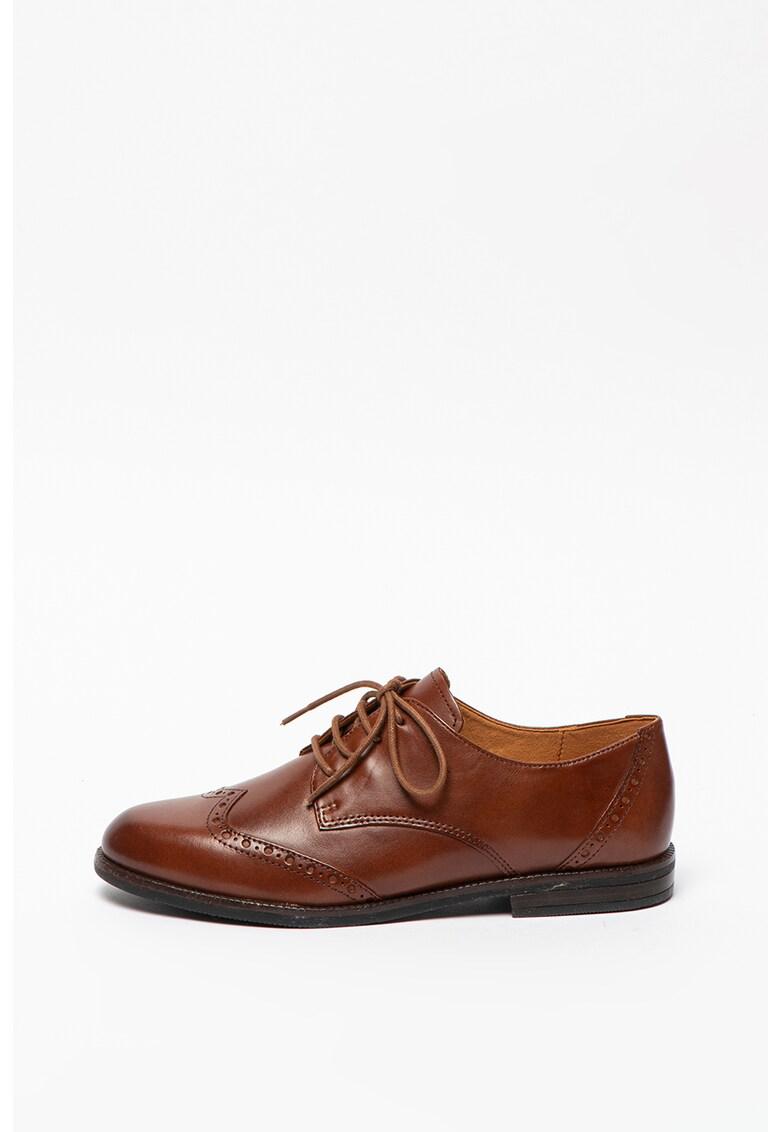Pantofi din piele cu model brogue imagine