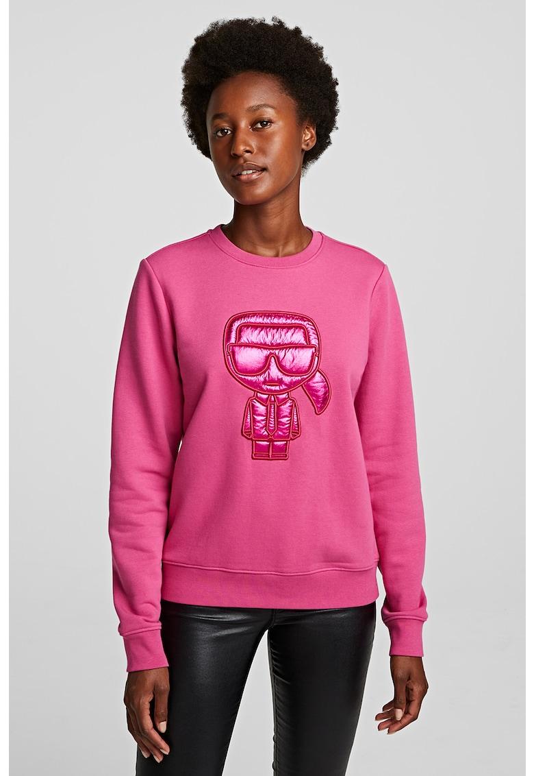 Bluza sport cu logo supradimensionat de la Karl Lagerfeld