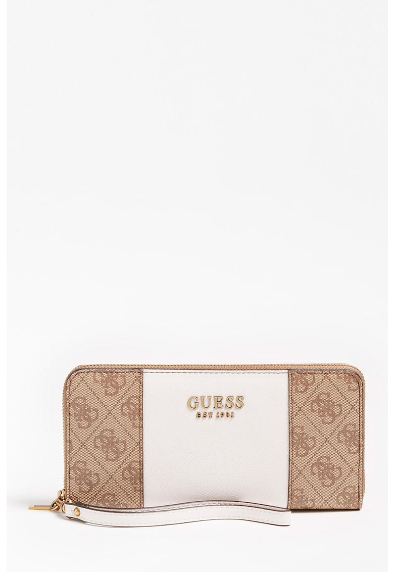 Portofel de piele ecologica cu fermoar Mika Guess fashiondays.ro
