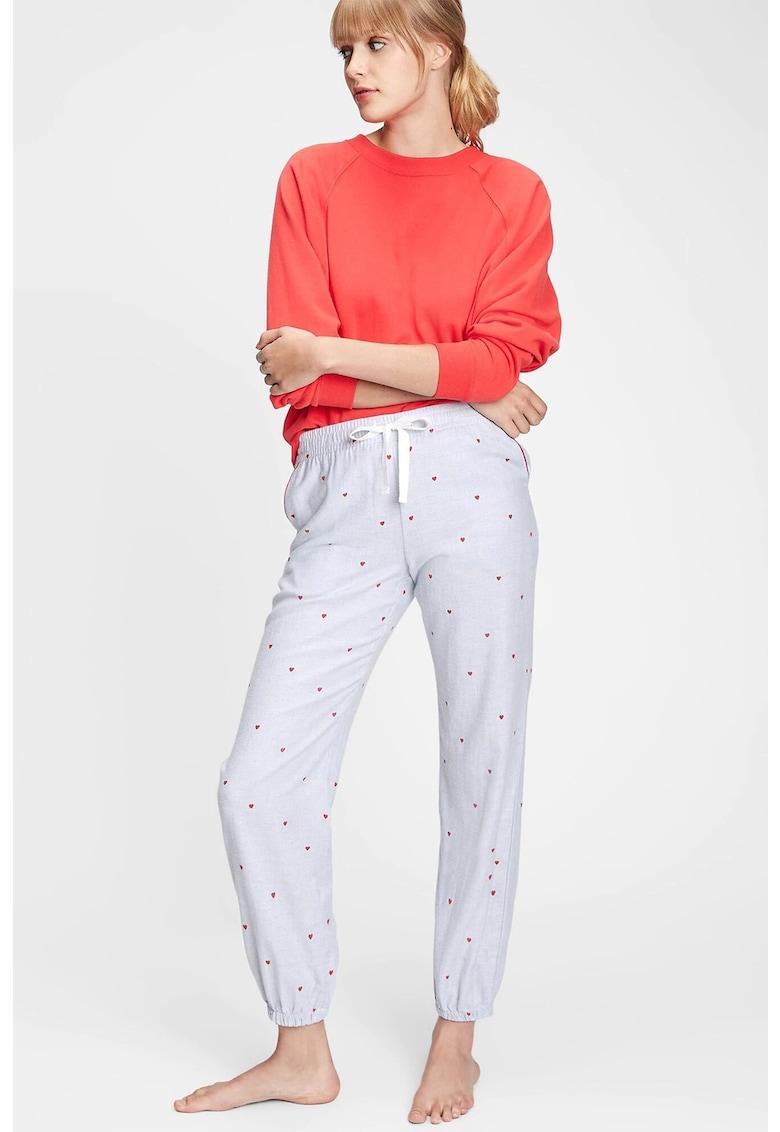 Pantaloni de pijama cu dungi si terminatie elastica imagine