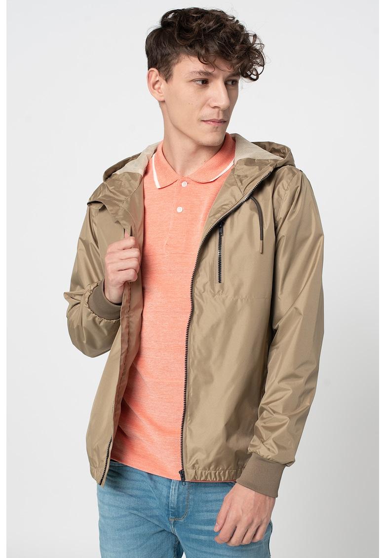 Jacheta cu gluga si buzunare cu fermoar pe piept BLEND imagine 2021