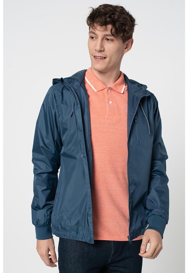 Jacheta cu gluga si buzunare cu fermoar pe piept imagine