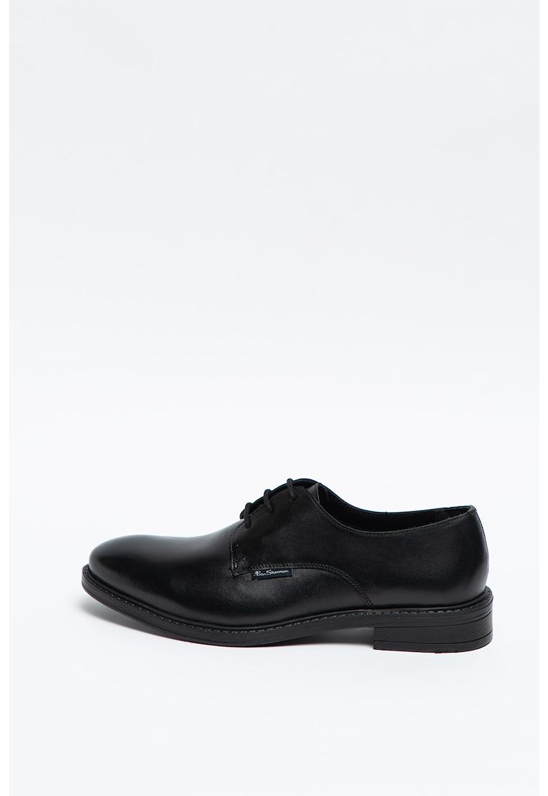 Pantofi derby de piele Pearce imagine