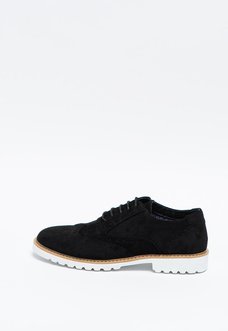 Pantofi brogue de piele intoarsa ecologica Nuoro 2