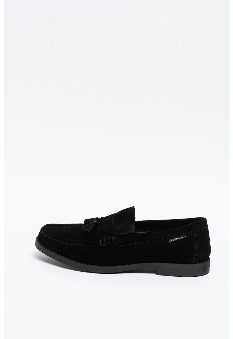 Pantofi loafer de piele intoarsa Loco imagine
