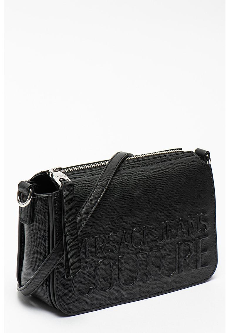 Versace Jeans Couture Geanta crossbody din piele ecologica cu logo in relief