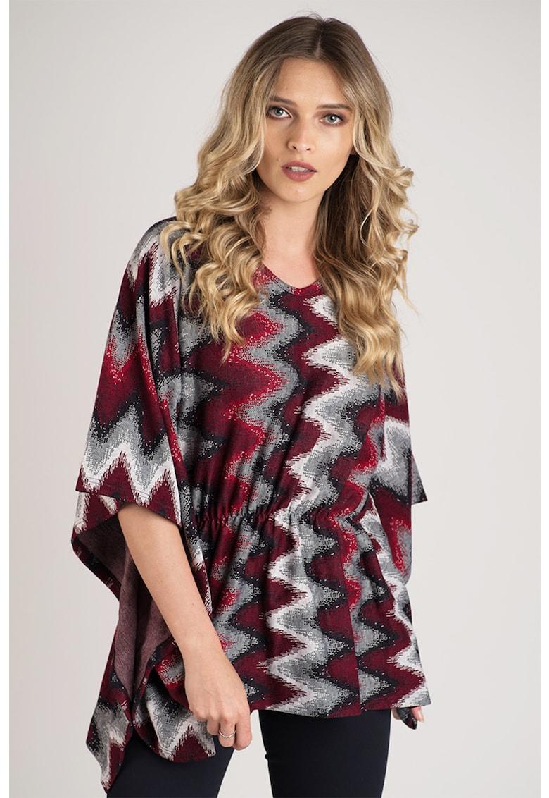 Bluza din amestec de lana cu maneci fluture Format Lady fashiondays.ro