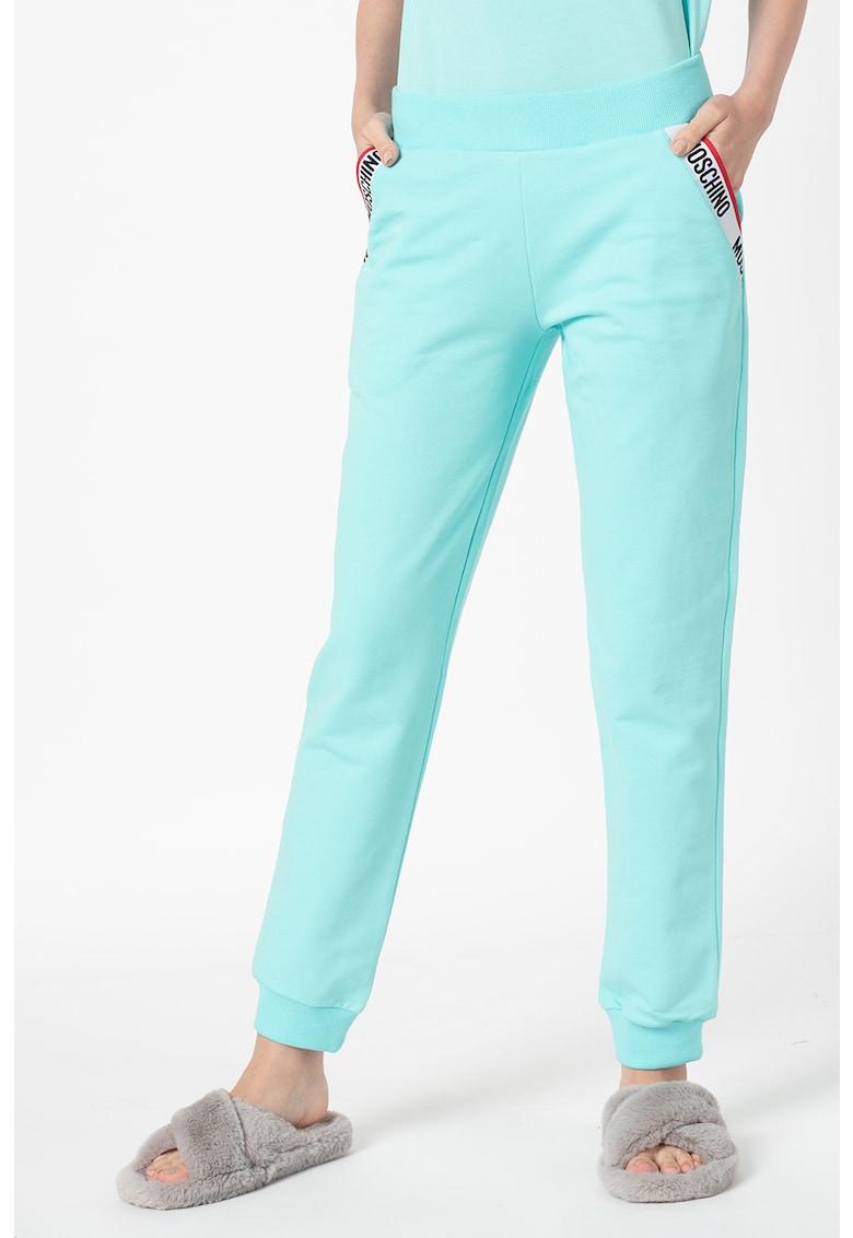 Moschino Pantaloni de casa cu banda logo