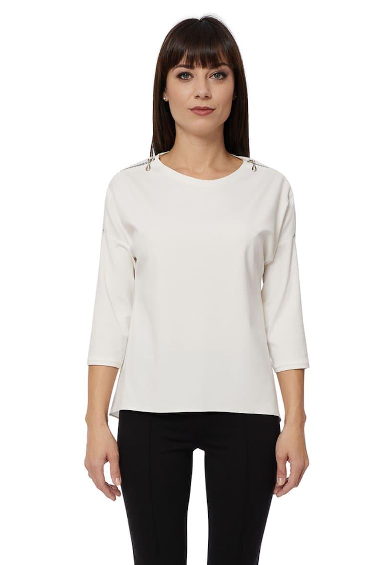 Bluza cu fermoare pe umeri imagine