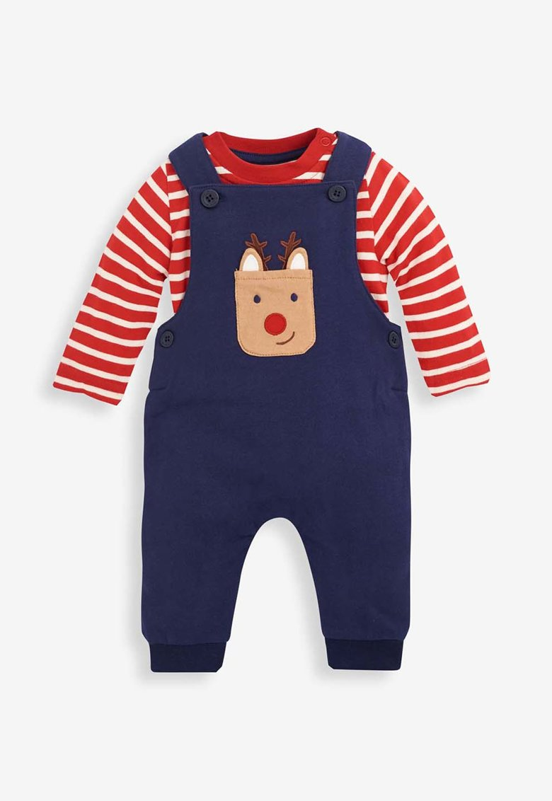 JoJo Maman Bebe Set de salopeta si bluza - 2 piese