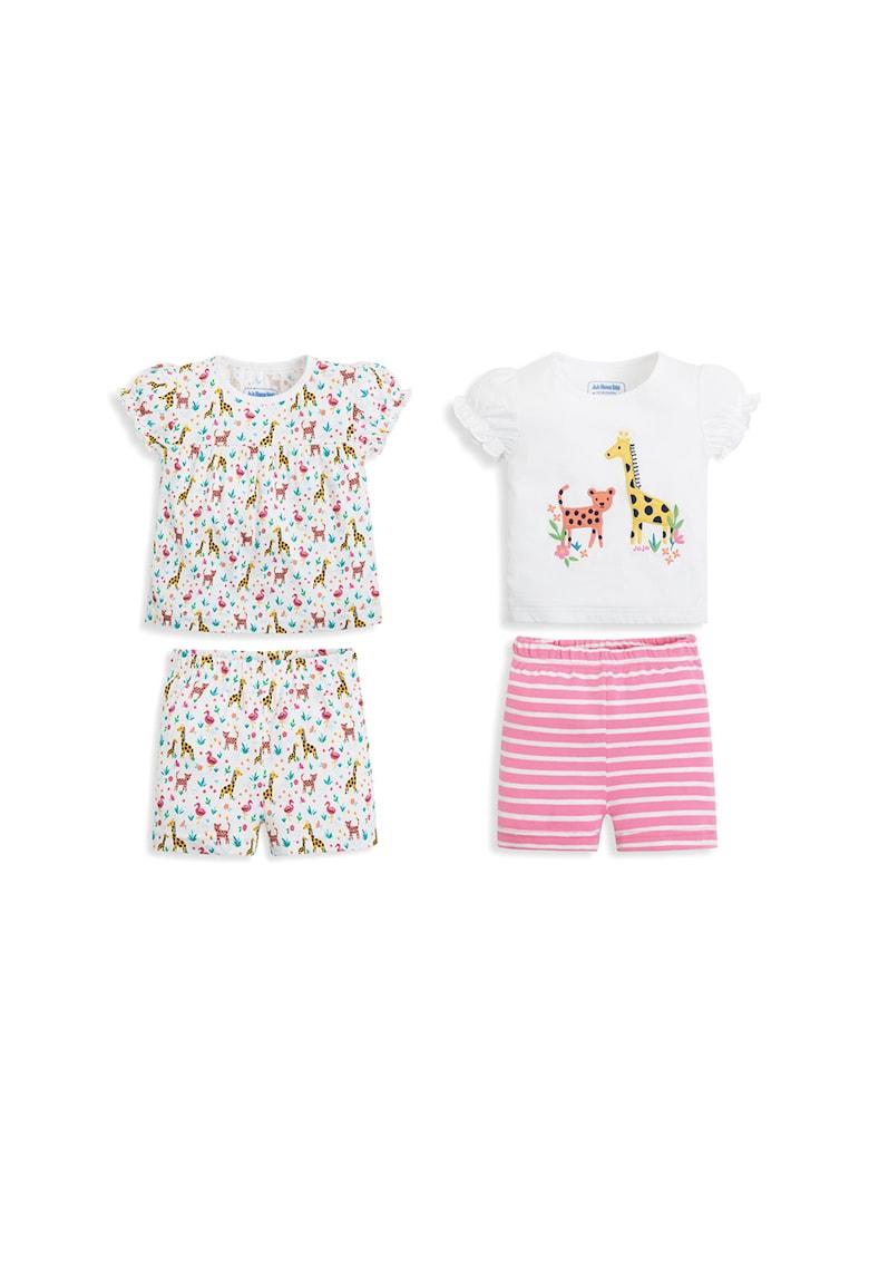 Set de pijamale scurte cu modele variate - 2 perechi