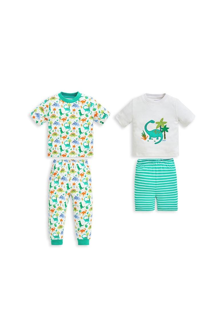 Set de pijamale cu imprimeu cu dinozauri - 2 perechi