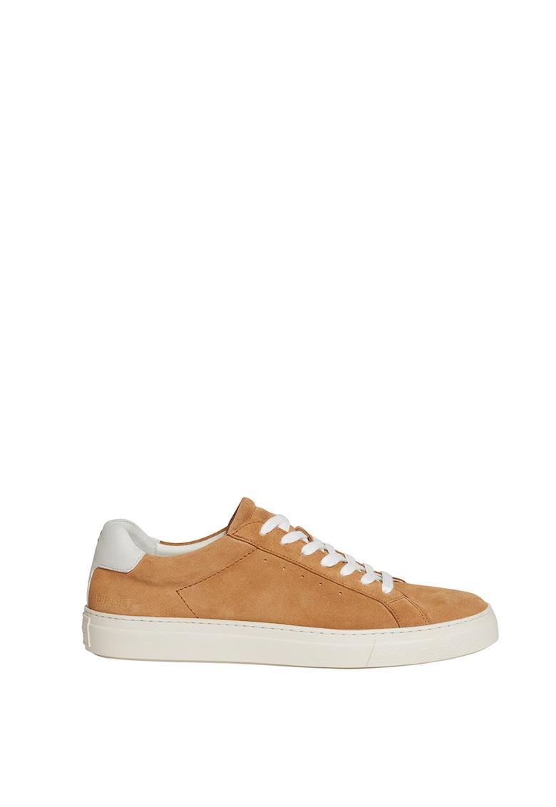 Pantofi sport de piele intoarsa cu detaliu contrastant poza fashiondays