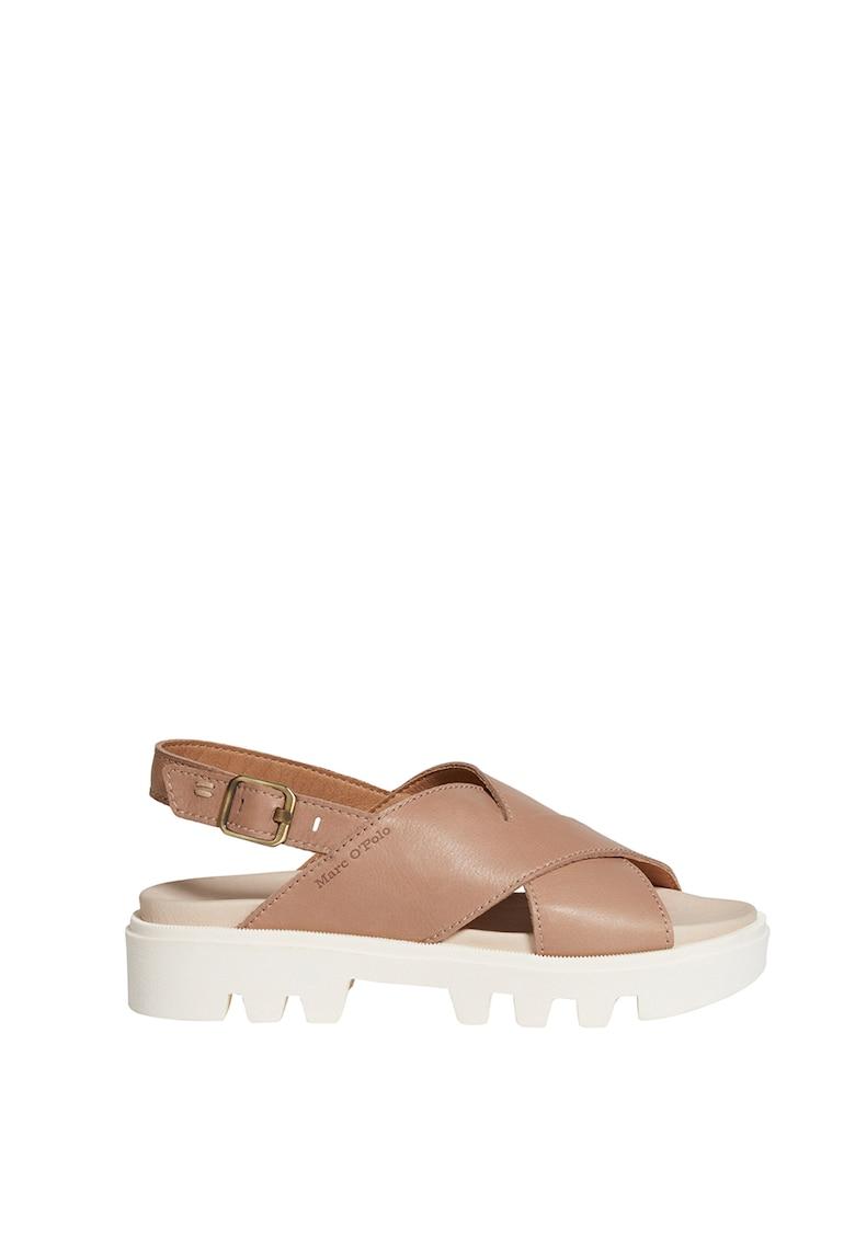 Sandale de piele cu aspect masiv
