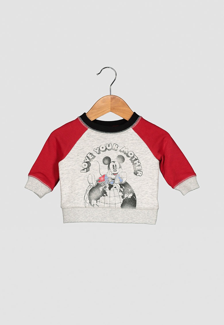 Bluza sport cu imprimeu Mickey Mouse imagine promotie