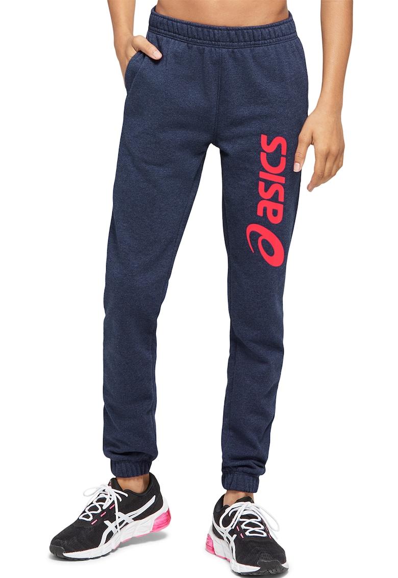 Pantaloni sport cu logo supradimensionat Big Logo Asics fashiondays.ro