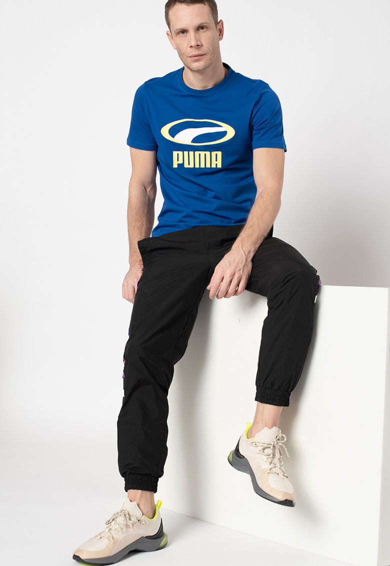 Pantaloni sport cu benzi laterale cu imprimeu XTG
