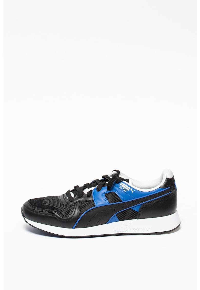Pantofi sport unisex de piele cu insertii de plasa Sound
