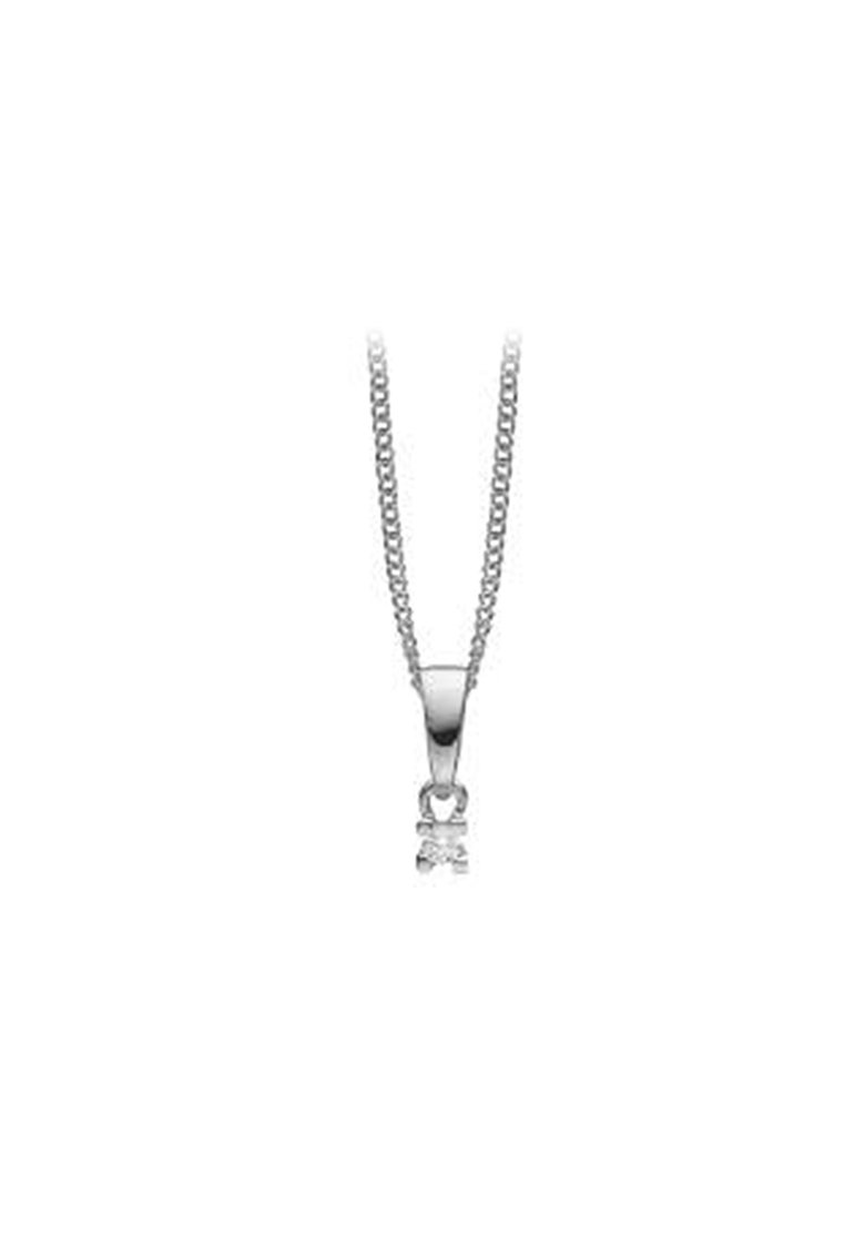 Pandantiv de argint cu diamant ecologic imagine